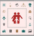 family with child - icon elements for your vector image vector image