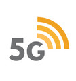 fifth generation network icon 5g wireless vector image