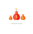 Financial risks prize fund money icon dangerous vector image vector image