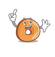finger bagels mascot cartoon style vector image