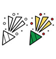 firework icon on white background vector image