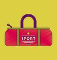 flat shading style icon sports bag vector image