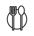 food icon plate fork spoon vector image