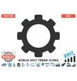 Gear Flat Icon With 2017 Bonus Trend vector image