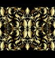 gold floral 3d damask seamless pattern vintage vector image vector image