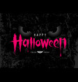 happy halloween pink message with spooky eye vector image vector image