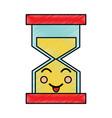 happy hourglass kawaii icon image vector image