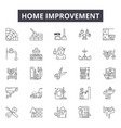 home improvement line icons for web and mobile vector image vector image