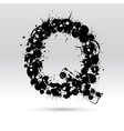 Letter Q formed by inkblots vector image