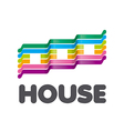 logo striped colorful houses vector image vector image