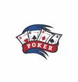 modern professional logo emblem poker game vector image vector image