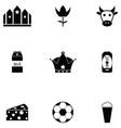 netherlands icon set vector image