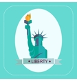 NEW YORK STATUE OF LIBERTY ICON FLAT vector image vector image