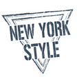 new york style grunge rubber stamp vector image vector image