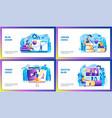 online courses concept set vector image vector image