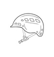 outline alpinism equipment helmet icon vector image
