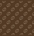 outline coffee beans brown seamless pattern vector image