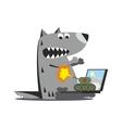 Panzer firing on wolf 01 vector image