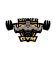 power gym logo emblem vector image