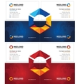 prism business card dark vector image