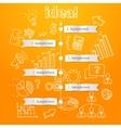 Process of idea generation business vector image