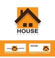 Real estate house orange logo vector image vector image