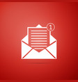 received message concept envelope icon isolated vector image
