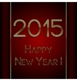 rectangle red greeting new year 2015 postcard with vector image vector image