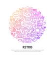 retro circle concept vector image vector image