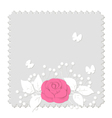 rose on gray vector image