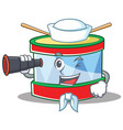 sailor toy drum character cartoon vector image vector image
