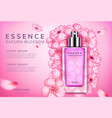 sakura perfume ads vector image vector image