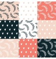 Seamless background pattern set Cute hand drawn vector image vector image