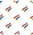 seamless pattern with flags netherlands vector image