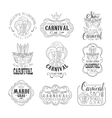 Set Of Hand Drawn Monochrome Mardi Gras Event vector image vector image