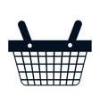 shopping basket commercial icon vector image