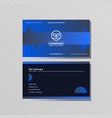 simple creative business card and name card vector image vector image