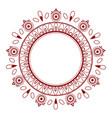 simple elegant oriental style floral mandala vector image