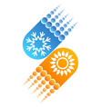 snowflake and sun abstract vector image vector image