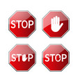 stop traffic road signs set vector image