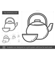 Tea ceremony line icon vector image vector image
