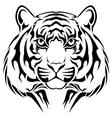 Tiger tribal tattoo vector image vector image