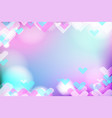 vivid bokeh with hearts in soft color background vector image