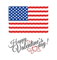 American Flag of Love isolated on white background vector image