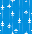Seamless Pattern with Airplanes Bakground vector image