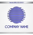 abstract company name blue and silver round logo vector image