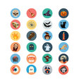 Flat Halloween Icons 1 vector image