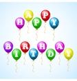 Happy birthday celebration balloons vector image