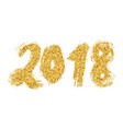 2018 new year golden lettering with bright vector image vector image