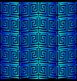 3d blue greek seamless pattern modern textured vector image